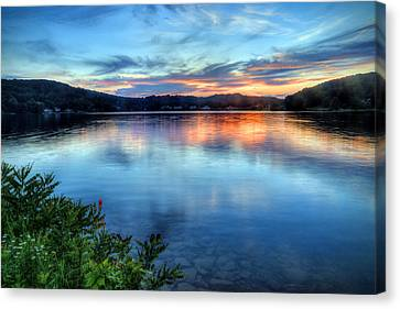 Canvas Print featuring the photograph June Sunset by Jaki Miller