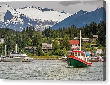 Juneau, Alaska, Usa Canvas Print by Tom Norring