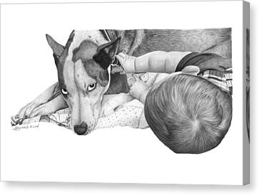Juneau And James -031 Canvas Print by Abbey Noelle