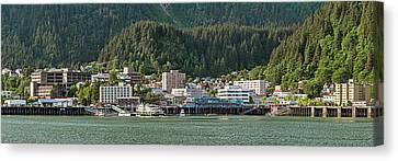 Juneau City At Waterfront, Southeast Canvas Print