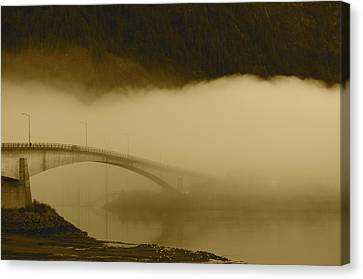 Juneau - Douglas Bridge Canvas Print by Cathy Mahnke