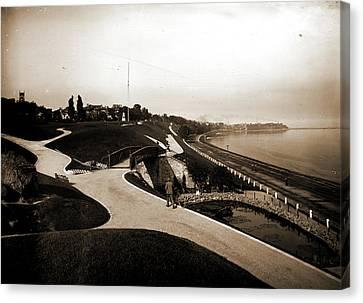 Juneau Park And Lake Michigan, Milwaukee, Parks, Lakes & Canvas Print