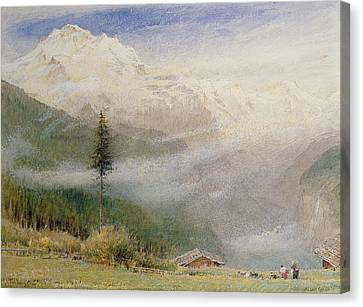 Jungfrau, 1913 Canvas Print by Albert Goodwin