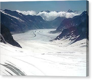 Jungfrau Glacier Canvas Print