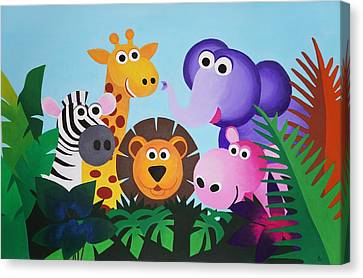 Jungle Canvas Print by Bav Patel