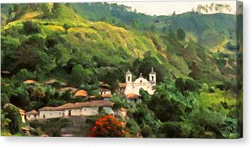 Jungle Church Honduras Canvas Print by Spyder Webb