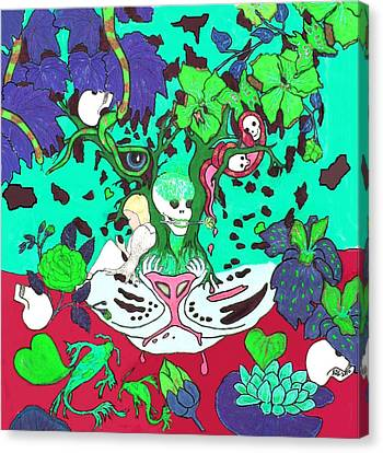 Canvas Print featuring the digital art Jungle Fever 4 by Stephanie Grant