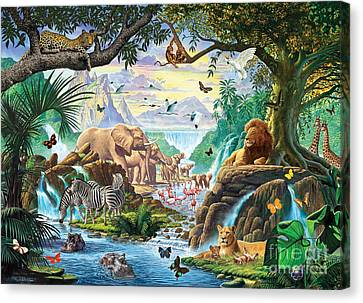 Jungle Five Canvas Print by Steve Crisp