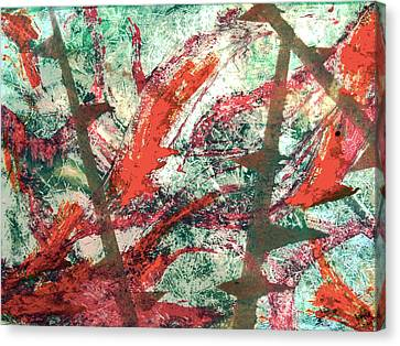 Canvas Print featuring the painting Jungle Flora by Alexandra Jordankova