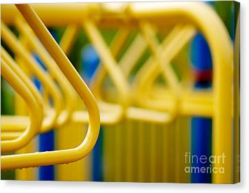Jungle Gym At Playground Shallow Dof Canvas Print by Amy Cicconi