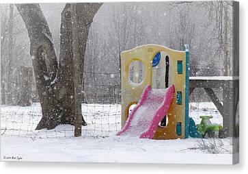 Jungle Gym Out Of Season Canvas Print by Matt Taylor