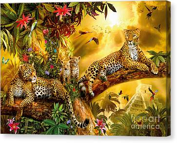 Jungle Jaguars Canvas Print by Jan Patrik Krasny