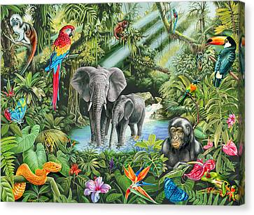 Jungle Canvas Print by Mark Gregory