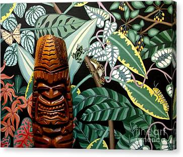 Jungle O Tiki Canvas Print by Anthony Morris