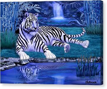 Jungle Tiger Canvas Print by Glenn Holbrook