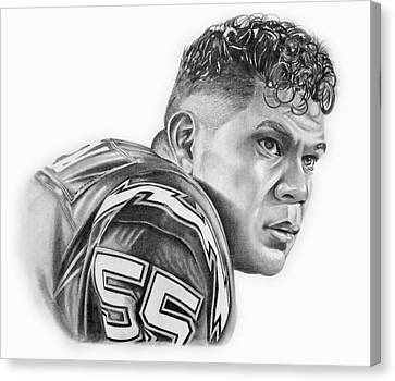 Canvas Print - Junior Seau by Don Medina