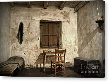 Junipero Serra Cell In Carmel Mission Canvas Print by RicardMN Photography