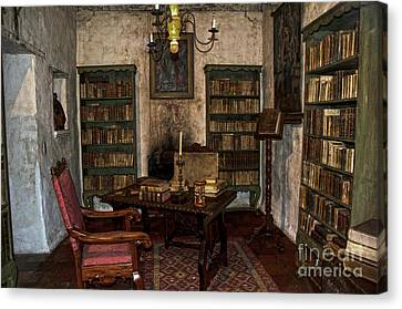 Junipero Serra Library In Carmel Mission Canvas Print by RicardMN Photography