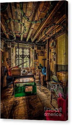 Beam Canvas Print - Junk Room by Adrian Evans