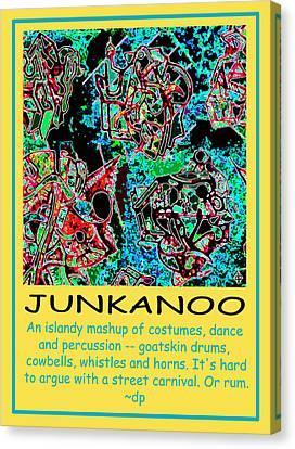 Junkanoo Poster Canvas Print