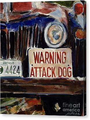 Junkyard Dog Canvas Print by Molly Poole