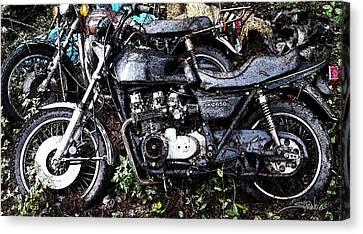 Junkyard Kawasaki Kz650 Canvas Print