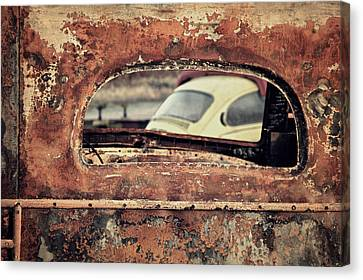 Junkyard Window Canvas Print by Odd Jeppesen