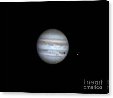 Galilean Moons Canvas Print - Jupiter And Moons, 2013 by John Chumack