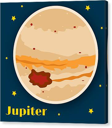 Science Fiction Canvas Print - Jupiter by Christy Beckwith