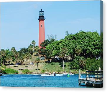 Jupiter Inlet Canvas Print by William Wyckoff