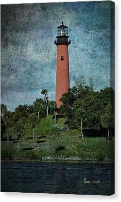 Jupiter Lighthouse-1a Canvas Print by Rudy Umans