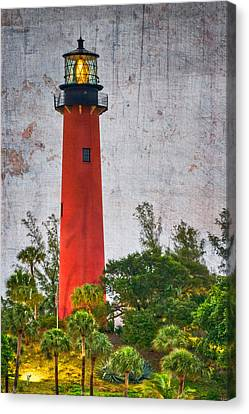 Jupiter Lighthouse Canvas Print by Debra and Dave Vanderlaan