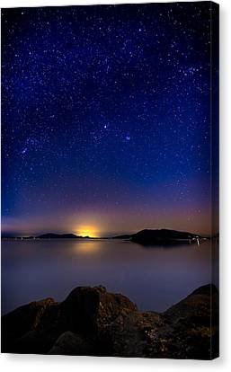 Jupiter Over Wildcat Cove Canvas Print by Alexis Birkill