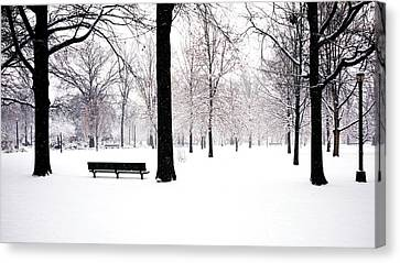 Jupiter Park In Snow Canvas Print