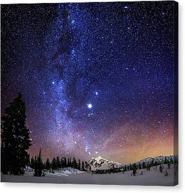 Mountains Canvas Print - Jupiter Rising by Alexis Birkill