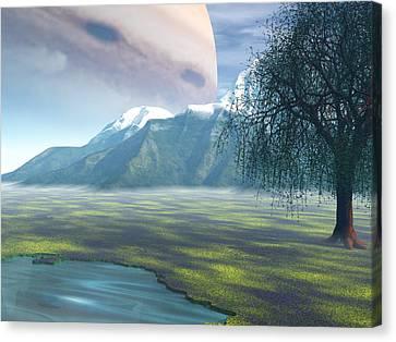 Jupiter Rising Canvas Print by Michele Wilson