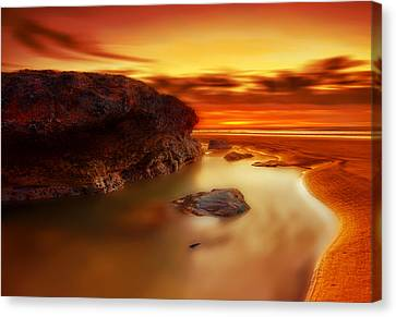 Jupiter Sunrise Canvas Print by Mark Leader