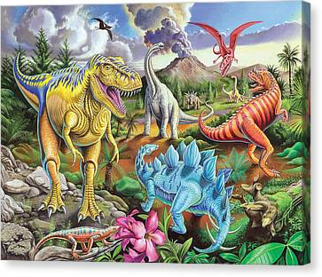 Jurassic Jubilee Canvas Print