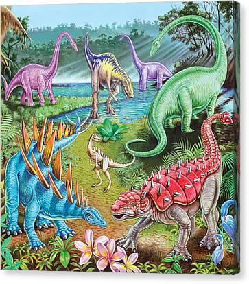 Jurassic Swamp Variant 1 Canvas Print