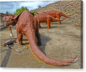 Jurupa Dinosaurs Canvas Print by Gregory Dyer