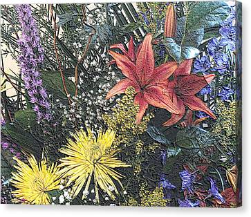 Canvas Print featuring the photograph Just A Boquet by Scott Kingery