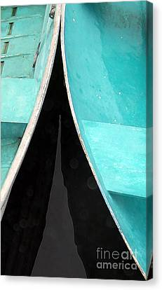 Just A Couple Of Dingys Canvas Print by Edward Fielding