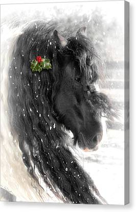 Just A Little Holly Will Do Canvas Print by Fran J Scott