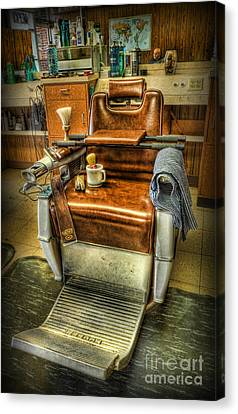 Just A Little Off The Top II - Barber Shop Canvas Print by Lee Dos Santos