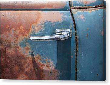 Pickup Truck Door Canvas Print - Just A Little Wax by Rich Franco