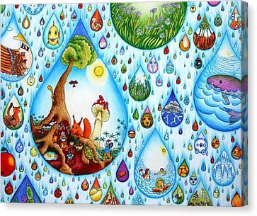 Just A Small Drop Canvas Print by Ida  Novotna