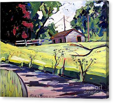 Just Around Paw Paw Pike Canvas Print by Charlie Spear