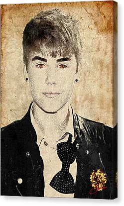Just Bieber Canvas Print by Dancin Artworks
