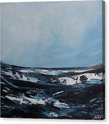 Just Blue Canvas Print by Lilu Lilu