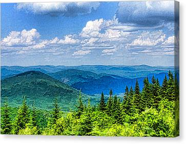 Just Breathe Deeply - Impressions Of Mountains Canvas Print by Georgia Mizuleva
